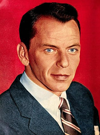 Frank Sinatra was the first two-time winner and three-time winner. He won in 1960, 1966 and 1967 Frank Sinatra in 1957.jpg