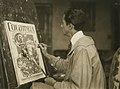 Frank Xavier Leyendecker in his studio.jpg