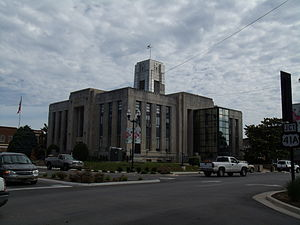 Franklin County, Tennessee - Image: Franklin County Courthouse, Winchester, Tennessee 6 8 2010