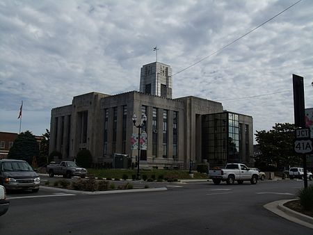 Franklin County Courthouse, Winchester, Tennessee 6-8-2010.jpg
