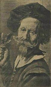 Portret Van Een Man Met Het Kaakbeen Van Een Koe In Zijn