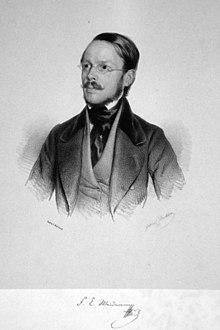 Franz Carl Weidmann Lithographie von Gabriel Decker, 1842 (Quelle: Wikimedia)