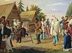 Franz Riss Skomorokhs in a village.jpg