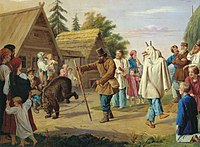 Franz Riss Skomorokhs in a village.jpg