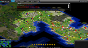 Fog of war - In the computer game Freeciv, completely unexplored areas are fully black, while currently unobserved areas are covered in a grey shroud.