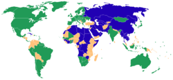 Freedom House world map 2007 blue.png