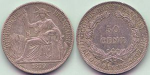 Cochinchina piastre - French Cochinchina 50 Cents 1879