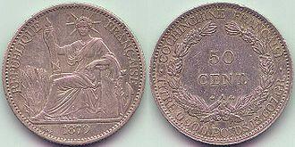 Cochinchina piastre - French Cochinchina 50 Cents 1879