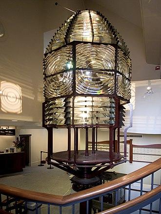 Nantucket Whaling Museum - Image: Fresnel Lens Sankaty Lighthouse