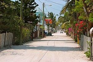 Caye Caulker - Image: Front Street, Caye Caulker, Belize