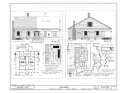 Front and End Elevation, First Floor Plan - Oaklawn, Pendleton, Anderson County, SC HABS SC,4-PEND.V,1- (sheet 1 of 2).png