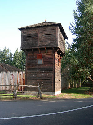 Fort Nisqually - The restored Fort Nisqually blockhouse at Point Defiance Park.
