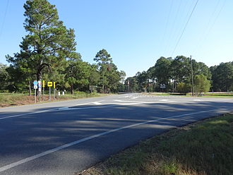 Georgia State Route 112 - The eastern end of the SR 107 concurrency in Turner County.