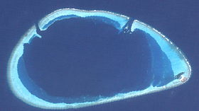 Photo satellitaire de l'atoll Gaafaru
