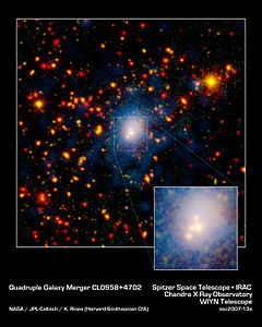 Galaxy Merger in Infrared, Visible, and X ray.jpg
