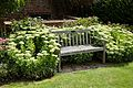 Garden seat and sedum at Goodnestone Park Kent England.jpg