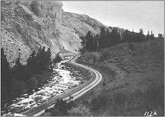 Gardner River - Image: Gardner River Canyon 1912