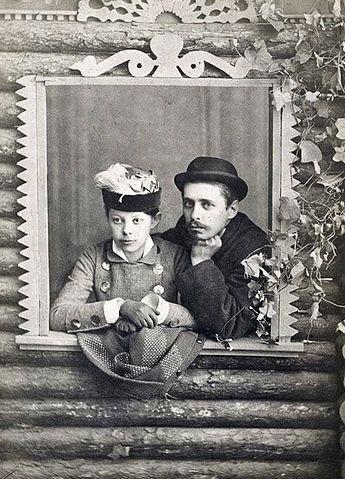 Н.Г.Гарин-Михайловский с женой Надеждой (урождённой Чарыковой)