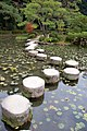 Garyu-kyo stepping stones - these used to be foundation stones for two of Kyoto's main bridges (3253978179).jpg