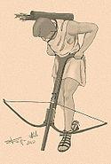 Gastraphetes - catapult ancestor - antica catapulta