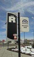 Gate R, Rockies Ride signs, FCS.jpg