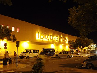 Ibiza Airport - exterior at night
