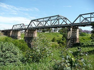 Lockyer Creek - Image: Gatton Railway Bridge