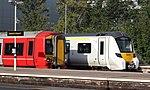 Gatwick Airport - GTSR GatEx 387210 and GTSR Thameslink 700149.JPG