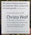 Gedenktafel Amalienpark 7 (Panko) Christa Wolf.jpg