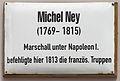 Gedenktafel Schloßplatz (Wittenberg) Michel Ney.jpg