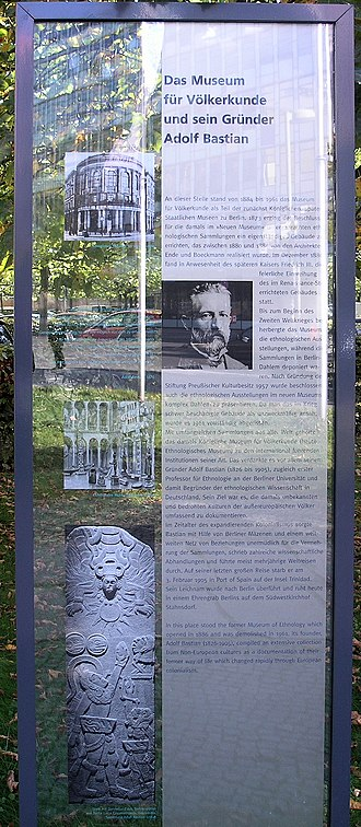 Adolf Bastian - Memorial plaque, Adolf Bastian, Stresemannstraße 110, Berlin-Kreuzberg, Germany