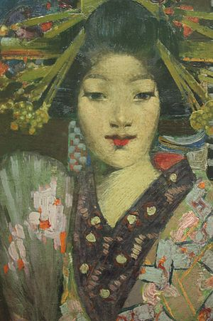 George Henry (painter) - Geisha Girl by George Henry (detail) 1894, National Gallery of Scotland