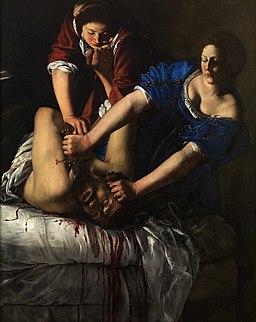 Gentileschi Artemisia Judith Beheading Holofernes Naples