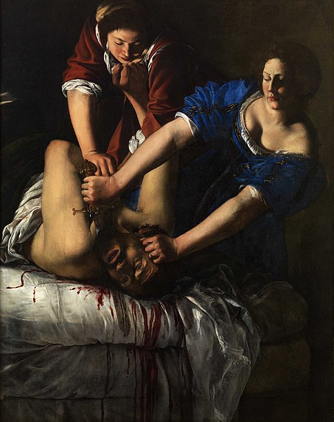 Giuditta che decapita Oloferne par Artemisia Gentileschi.