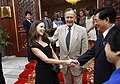 George H. W. Bush and granddaughter Barbara Bush with Hu Jintao.jpg
