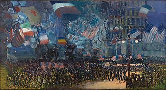 George Luks - Armistice Night, 1918, oil on canvas