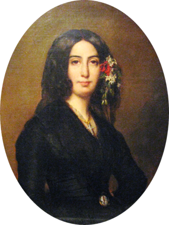 George Sand - Portrait of George Sand by Auguste Charpentier (1838)