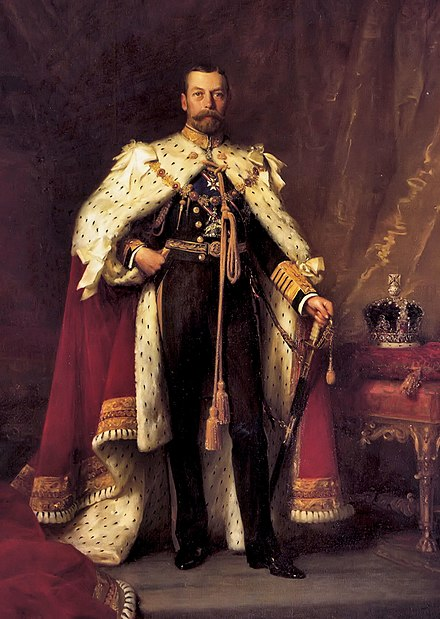 George V, King of the United Kingdom and the British Dominions, Emperor of India. George V of the united Kingdom.jpg