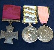 George Walters' VC, Crimea Medal with three Clasps (Alma, Inkermann & Sebestopol) and the Turkish Crimea Medal
