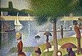 Georges seurat, domenica alla grande jatte - 1884, 1884-86, 02 barche e canoa.jpg