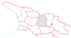 Location of Shida Kartli within Georgia