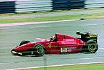 Gerhard Berger - Ferrari 412T1B at the 1994 British Grand Prix (32418632951).jpg