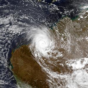 1995–96 Australian region cyclone season - Image: Gertie dec 20 1995 0545Z