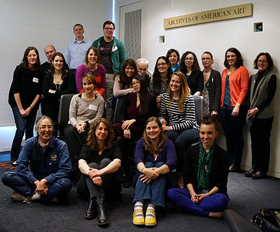 Participants at the Women in the Arts 2013 workshop and edit-a-thon at the Archives of American Art