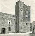 Gioja del Colle avanzi del castello xilografia di Barberis 1898.jpg