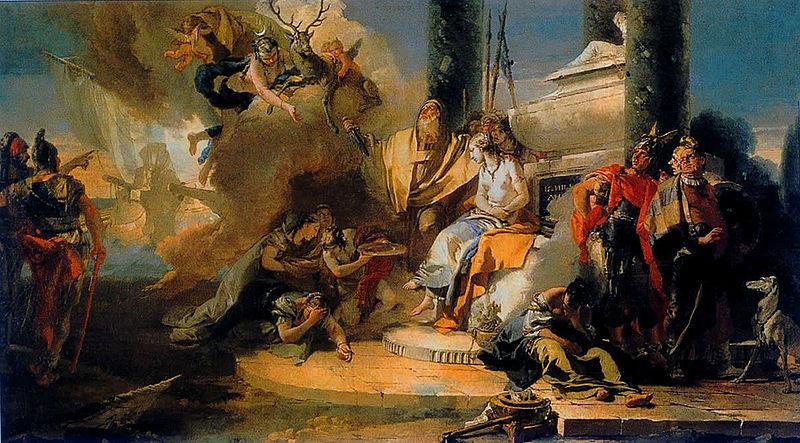 [peinture] Vos oeuvres préférées - Page 2 800px-Giovanni_Battista_Tiepolo_-_The_Sacrifice_of_Iphigenia