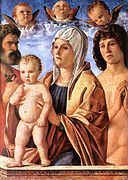 Giovanni Bellini - Madonna and child with St Peter and St Sebastian.jpg