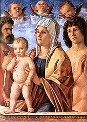 Giovanni Bellini: Madonna and Child with St. Peter and St. Sebastian