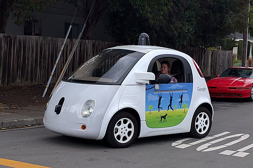 Google driverless car at intersection.gk
