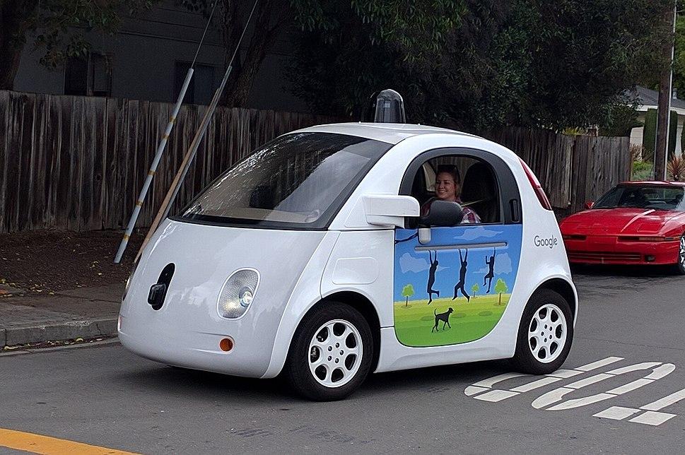Google driverless car at intersection.gk
